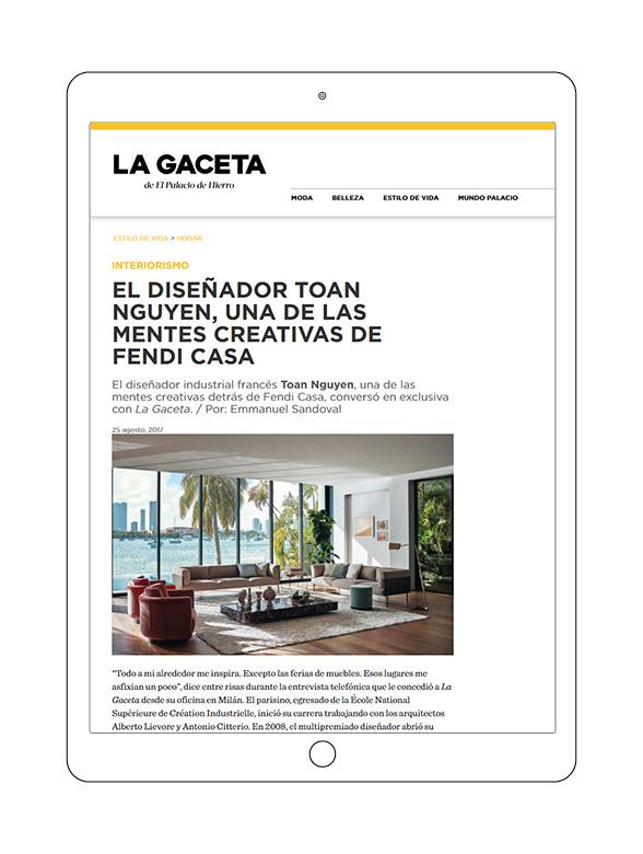 2017-08 La Gaceta (esp)_FENDI CASA_cover